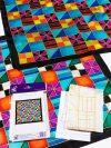 Selyemkendő |  55x55cm | Előkontúrozott |Squares |P8 |  IDEEN 46365