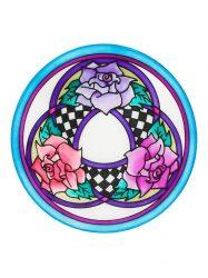 Selyem mandala | 20cm | Előkontúrozott| Three roses | Ponge 8 | IDEEN 46639
