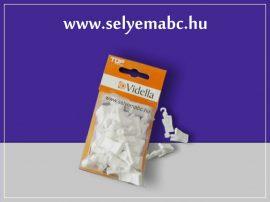 Csipesz |Műanyag fehér |20db-os