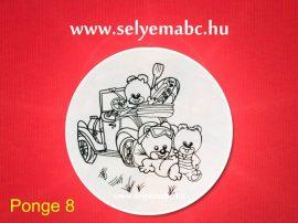 Selyem mandala előkontúrozott   Gyermekminta    20cm   Pongé 8   Seide