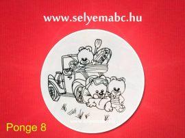 Selyem mandala előkontúrozott | Gyermekminta  | 20cm | Pongé 8 | Seide