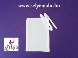 Selyemzsák   Ajándékkészítésre   fehér   15x11