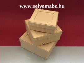 Ajándékdoboz   3db-os dobozkit négyzet