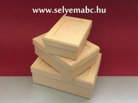 Ajándékdoboz | 3db-os dobozkit téglalap