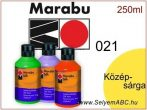 MARABU Selyemfesték | 250ml | Középsárga | 021