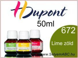 H.DUPONT Gőzfixálós Selyemfesték | 50ml | 672 - Tilleul | Lime zöld