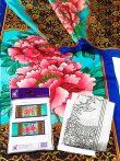 Selyemsál | 45x180cm | Előkontúrozott fekete | Pünkösdi rózsa | P8 | IDEEN 46154