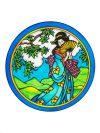 Selyem mandala | 20cm | Előkontúrozott Kyoto | Ponge 8 | IDEEN 46642