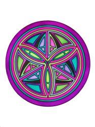Selyem mandala   20cm   Előkontúrozott Celtic   Ponge 8   IDEEN 46640