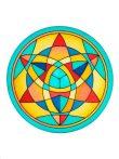 Selyem mandala   20cm   Előkontúrozott Star   Ponge 8   IDEEN 46641