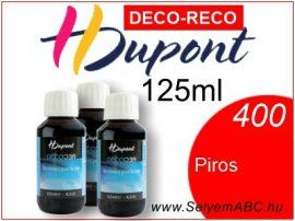 H.DUPONT Gőzfixálós Selyemfesték   125ml   400 - Red DECO RECO   Piros
