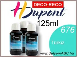 H.DUPONT Gőzfixálós Selyemfesték | 125ml |676 - Turquoise DECO RECO | Türkiz