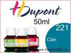 H.DUPONT Gőzfixálós Selyemfesték | 50ml | 221 - Cyan | Cián
