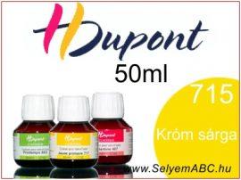 H.DUPONT Gőzfixálós Selyemfesték | 50ml | 715 - Chrome yellow | Króm sárga