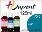 H.DUPONT Gőzfixálós Selyemfesték | 125ml | 221 - Cyan | Cián