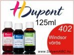 H.DUPONT Gőzfixálós Selyemfesték | 125ml | 402 - Windsor red | Windsor vörös