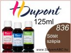 H.DUPONT Gőzfixálós Selyemfesték | 125ml | 836 - Sépia Foncé | Sötét szépia
