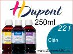 H.DUPONT Gőzfixálós Selyemfesték   250ml   221 - Cyan   Cián