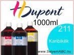 H.DUPONT Gőzfixálós Selyemfesték | 1000ml | 211 - Caraibe  | Karibikék
