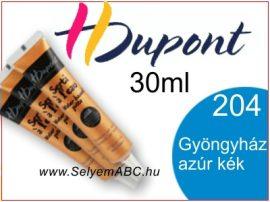 H.DUPONT Selyemkontúr   30ml   204   Gyöngyházfényű azure kék