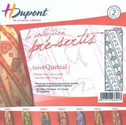 Selyemsál |  45x140cm | Előkontúrozott fekete | QUETZAL| P9 | H.Dupont 4628