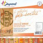 Selyemsál |  45x145cm | Előkontúrozott fekete | JAPONICA | P5 | H.Dupont 4644
