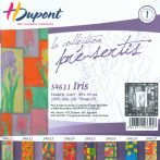 Selyemkendő |  90x90cm | Előkontúrozott | Iris | DUS4611 |  H.Dupont