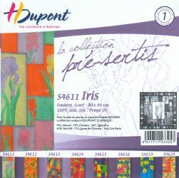 Selyemkendő |  90x90cm | Előkontúrozott | Iris | DUS4611 |  H.Dupont.
