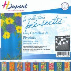 Selyemkendő |  90x90cm | Előkontúrozott | Pünkösdi rózsa | DUS4619 |  H.Dupont