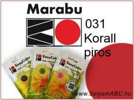 Marabu Por Selyemfesték   EasyColor - Batik   Korallpiros   031