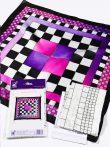 Selyemkendő |  55x55cm | Előkontúrozott | Chess | P8 |  IDEEN 46387