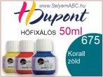 H.DUPONT Hőfixálós Selyemfesték | 50ml | 675 - Atoll | Korall zöld